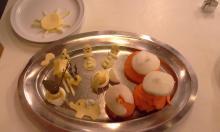 We maken verschillende figuurtjes met eten